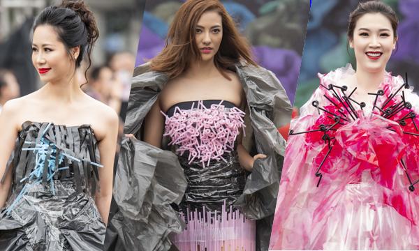 Các sản phẩm trang phục tái chế có thể làm từ vải cũ, giấy, nhựa, nilon,...